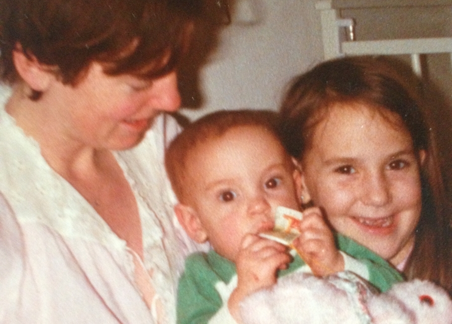 Me, my mum and my sister.
