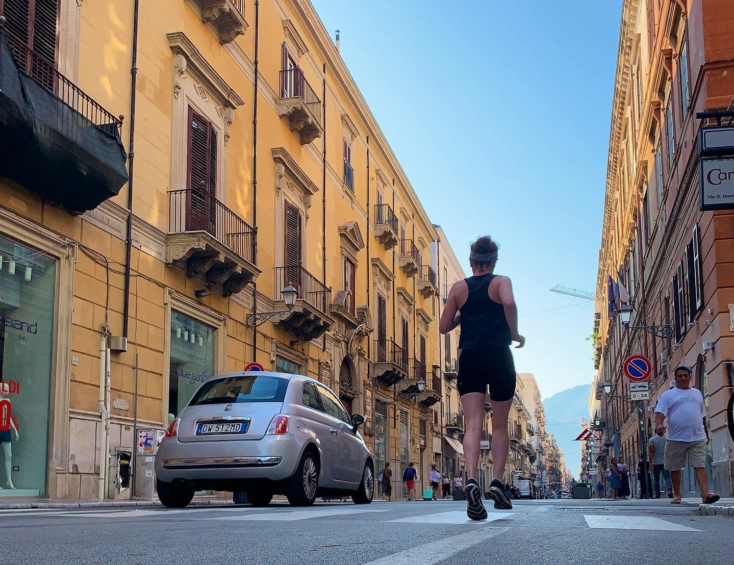 Running in Palermo