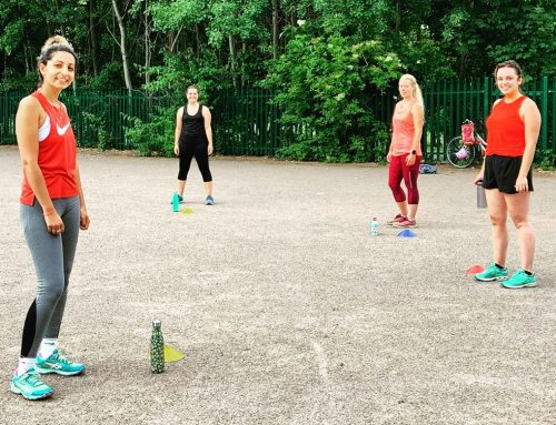 Socially Distanced Circuit Training in the Park